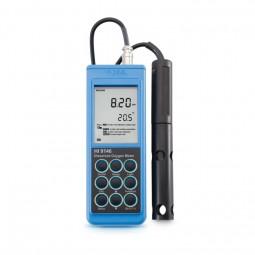 HI9146-04 Hand-Sauerstoffmessgerät, wasserdicht, °C, Höhen- und Salzkomp., inkl. Sonde HI 76407/4F,