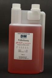 pH 4 rot Pufferlösung 1000 ml Dosierflasche